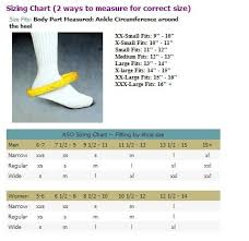 Mcdavid Ankle Brace Size Chart Aso Ankle Stabilizing Orthosis W Inserts Black X Large