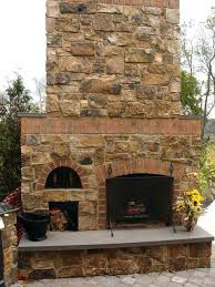 build your own stone outdoor fireplace cost to brick oven