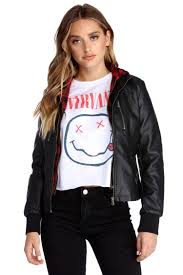 baby it s cold faux leather jacket