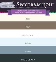 Color Charts Spectrum Noir Colouring System From Crafters