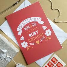 original personalised ruby weddingy card 40th cards husband 40th wedding anniversary cards husband fresh card idea 40th