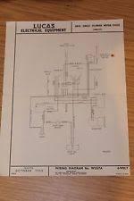 ariel cylinder ariel single cylinder 1956 57 lucas electrical equipment original wiring diagram