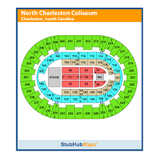 North Charleston Coliseum Seating Chart North Charleston Coliseum And Pac Events And Concerts In