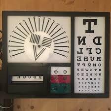 Vintage Eye Chart Light Box Opticians Eye Test Chart Light Box Lamp Optometry Medical