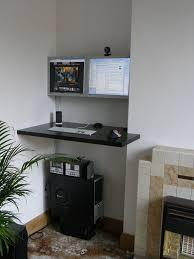 office floating desk small. Standing Corner Desk With Dual Monitors Office Floating Small I