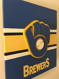 3d Vintage Milwaukee Brewers Wooden Sign