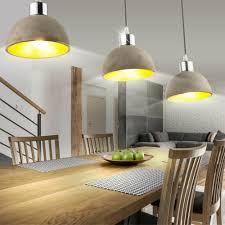 Design Decken Holz Gold Lampe Pendel Beton Zimmer Gäste