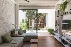 planos de casa peque a angosto terreno casas pequenas con patio interior