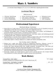 fashion buyer resume
