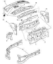 2008 chrysler aspen cowl dash panel related parts diagram i2202291
