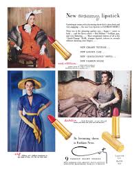 Coty Lipstick Ad 1949 Vintage 1940s