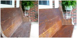 antique furniture cleaner. Church Pew Before And After Antique Furniture Cleaner H