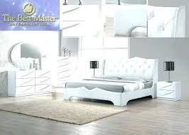 White Lacquer Bedroom Furniture Sets Modern Pieces King Set Further ...