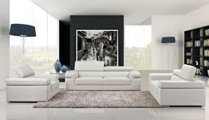 Casa Atlantis Modern White Bonded Leather Sofa Set - Atlantis bedroom furniture