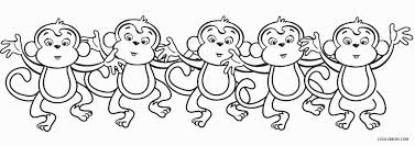 Monkey Coloring Pages Free Printable Monkey Coloring Pages For Kids