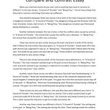 compare contrast example essay what is compare and contrast essay example basic example of thesis statement for compare and contrast essay