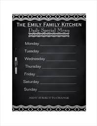 specials menu weekly menu template 20 free psd eps format download free
