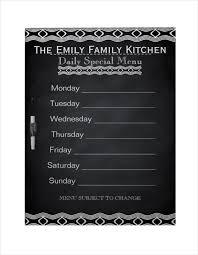 specials menu weekly menu template 20 free psd eps format download free