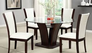 glass table chairs wooden for set inch modern and argos diameter dimensions dining round seater oak