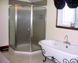 Rain Glass Bathroom Window Classic Bathroom With Neo Angle Corner Shower Stalls And Rain
