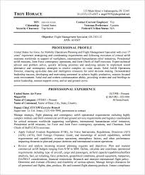 Federal Government Resume Template 5 US Air Force Federal Resume Template