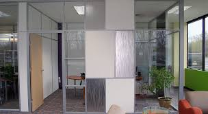 front glass walls office interiors