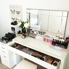 vanity room love today on the benches is our ultimate clear collection included in makeup deskmakeup
