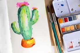easy watercolor paintings for art