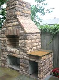 outdoor brick fireplace grill plans outside deck design and ideas decorating