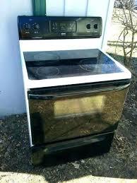kenmore elite stove top