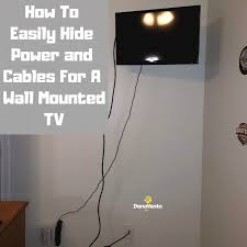 how to easily hide power and cables for a wall mounted tv cords cables