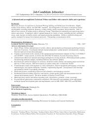 Technical Writer Resume Examples Resume Template Technical Writing Resume Examples Free Career 1