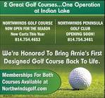 2 Great Golf Courses... On Operation At Indian Lake , NORTHWINDS ...