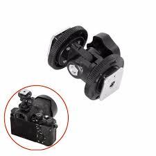 Dual <b>Hot Shoe Adjustable Mount</b> Adapter Bracket Holder for Video ...