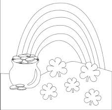 Pot Of Gold Color Sheets Lovely Rainbow Pot Of Gold Coloring Pages C Trade Me