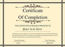 templates for certificates of completion printable certificate template 46 adobe illustrator documents