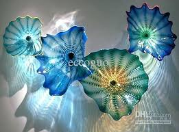 hand blown glass plates artistic glass wall plates on restaurant colored whole from hand blown glass hand blown glass plates