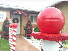Outdoor Christmas Decorations Candy Canes DIY Christmas Decoration Candy Cane Lane YouTube 26