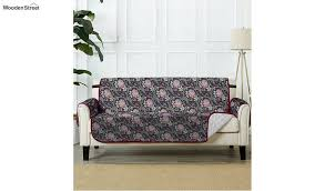 black quilted 2 seater sofa cover