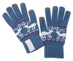 Сенсорные перчатки Raindeer, синие оптом под логотип