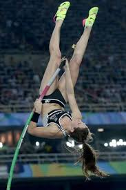 eliza mccartney of new zealand petes in the women s pole vault final on day 14 of