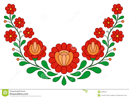 Hungarian Folk Embroidery Designs Traditional Hungarian Folk Embroidery Pattern Stock Vector