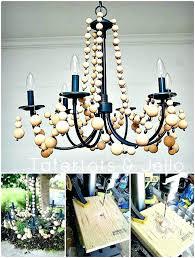 wood bead chandelier diy beaded chandelier tutorial wood bead chandelier tutorial chandelier ceiling fan white wooden wood bead chandelier diy