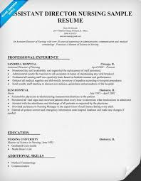 Nursing Resume Template Free Download Assistant Director Curriculum ...
