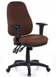 office chair material. Zenit Pro Ergonomic Fabric Office Chair With Brown Seat Material