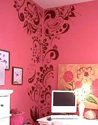 bedroom stencil ideas. teen bedroom wall ideas with stenciled pattern stencil r