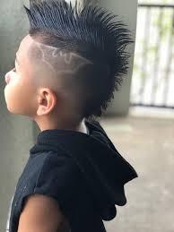 Little Boy Haircut Designs Fo Hawk With Batman Design Boys Haircut Shaved Hair