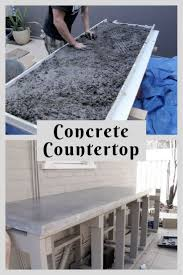 Concrete Countertop Over Laminate Best 20 Concrete Countertops Ideas On Pinterest Cement