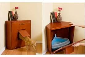 corner cat litter box furniture. the corner litter cabinet is about as refined a cat box furniture l