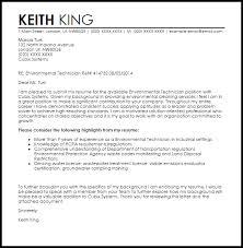environmental technician cover letter sample tech cover letter